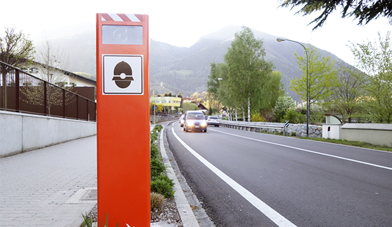 what speed cameras look like in Europe France and Italy