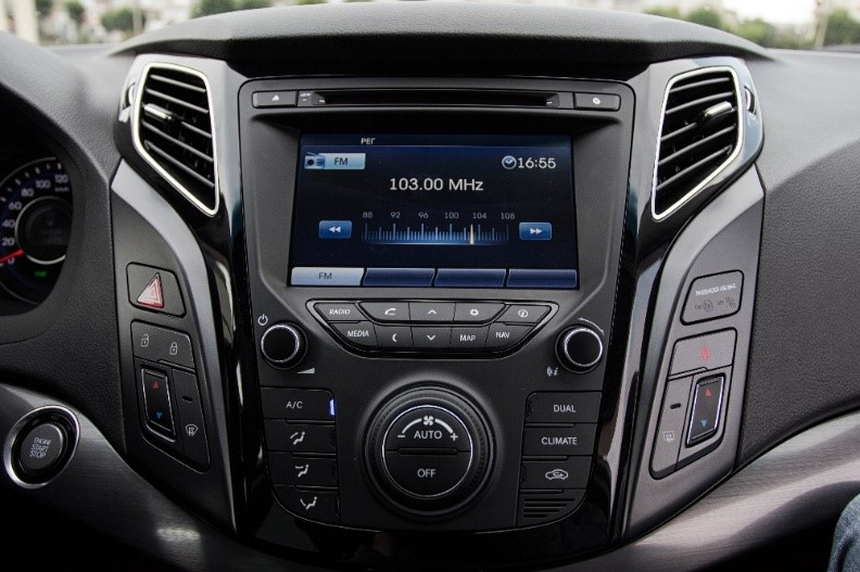 A modern car entertainment system