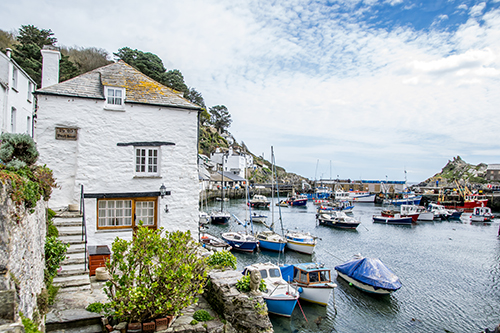 Boats in Polperro Harbour