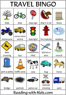 A game of travel bingo